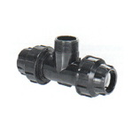 Compression fittings, sprinkler irrigation system
