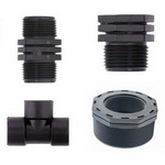 Threaded plastic fittings